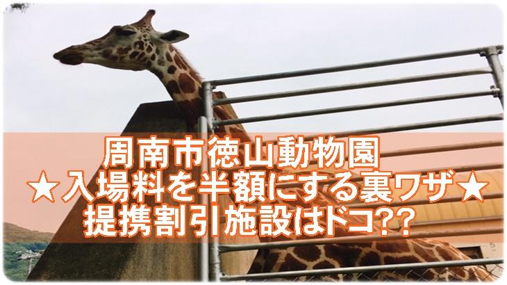 徳山動物園の入場料を半額にする裏ワザ!提携割引施設も多数あり!